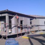 Cementolegno BetonWood su telaio metallico