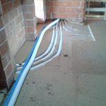 Allettamento dei tubi vmc con inserimento nella fibra di legno per abbattimento acustico