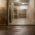 Allestimento in cementolegno BetonWood su struttura metallica