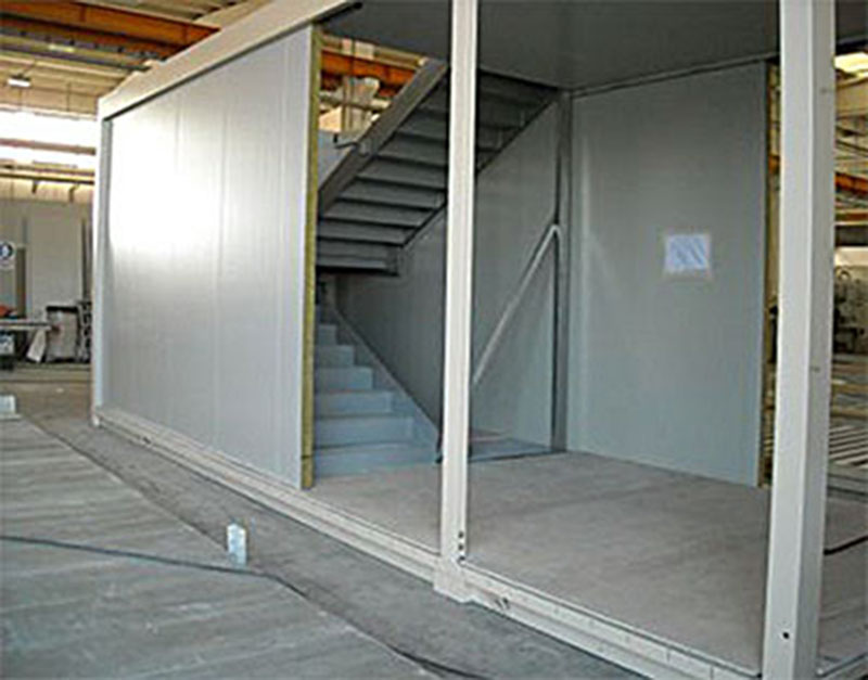 Massetti a secco in cementolegno BetonWood per prefabbricati metallici