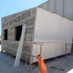 Case mobili ecologiche in cementolegno e fibra di legno su struttura metallica